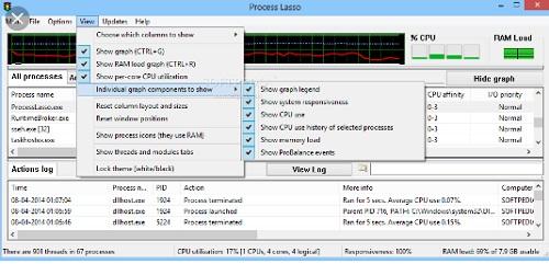Phan mem khac phuc loi may tinh bi treo Process Lasso 9.3