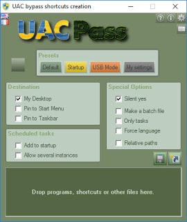 UAC bybass shorcuts creation 2