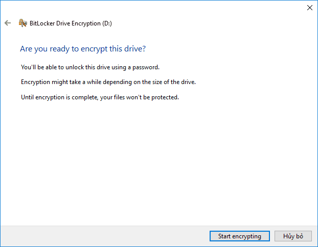 BitLocker windows 10 19
