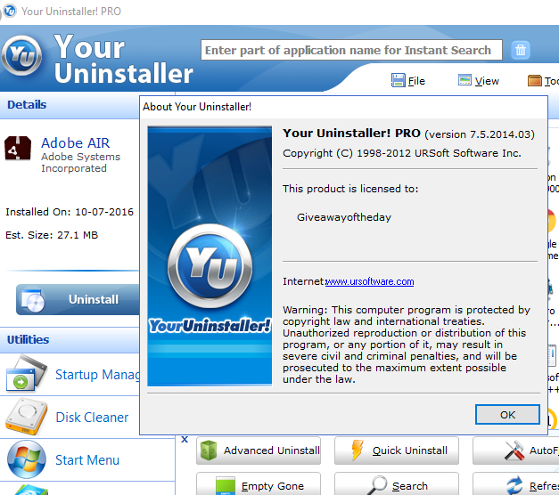 Your Uninstaller 7.5 Pro