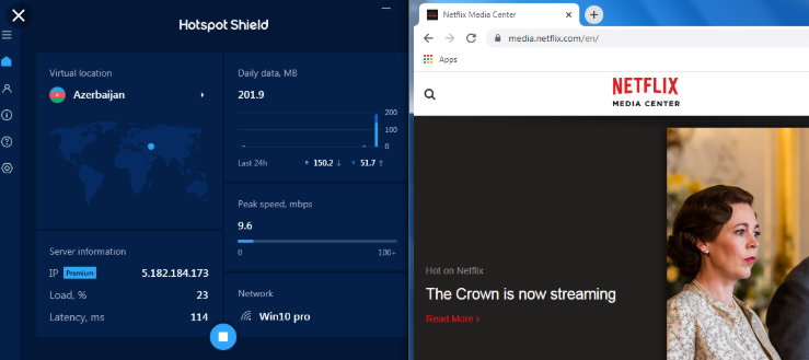 fake ip Hotspot Shield Business 9.5.9