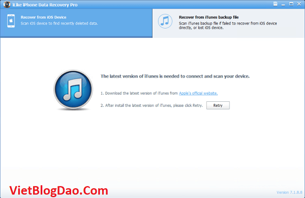 setup ILike iPhone Data Recovery Pro 7.1