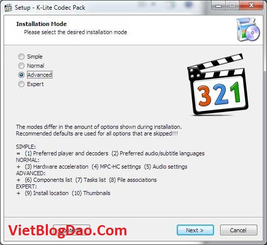 K-Lite Codec Pack Full 15.4 active